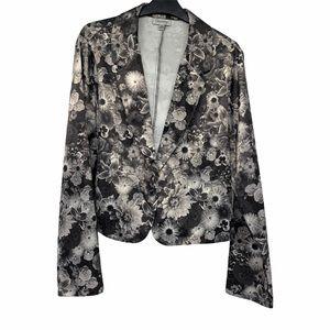 Olsenboye silver black floral blazer XL